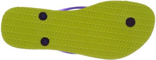 5209 Yellow Tongs Femme Slim Havaianas Logo Jaune neon qa0Y6xY