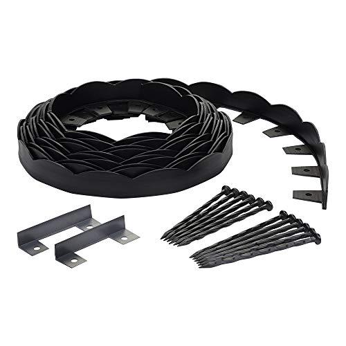 (EasyFlex Dimex Scallop Top Plastic No-Dig Edging Project Kit, 40-Feet (3210-40C-4) (Renewed))