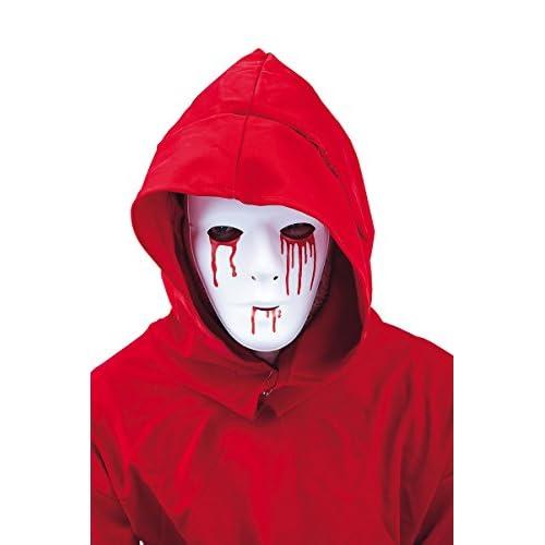 Non Concerne Rubies - S3161 - Accessoire Pour Déguisement - Masque - Blanc Homme Avec Larmes De Sang