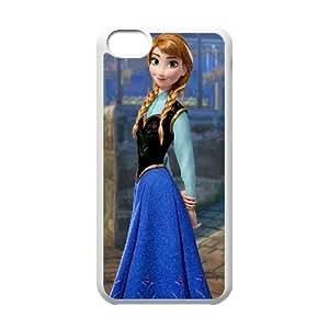 Anna Frozen Cartoon iPhone 5c Cell Phone Case White 218y-726095