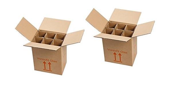 2 x Cajas de Cartón 6 botellas montado montado – La Autorización – Envío de vino para 0,75L Burdeos/Burdeos/champán/Schlegel (1,0l) – 2 Cajas: Amazon.es: Oficina y papelería