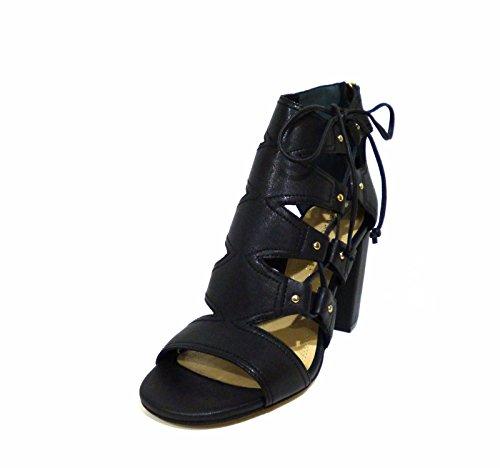 Bruno Premi K1301P donna tronchetto estivo sandalo alla caviglia pelle nero tacco alto