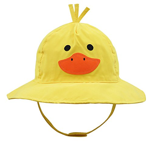 Connectyle Baby Infant Toddler Kids' UPF 50+ Sun Protection Hat Cute Cartoon Bucket Sun Hats Yellow