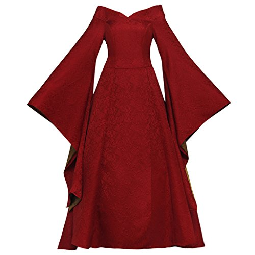 CosplayDiy Women's Dress for Game of Thrones Cersei Lannister Cosplay Red M