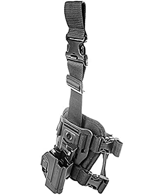 ORPAZ Defense Dropleg Thigh rig platform + Tactical Thmub release safety Holster, Rotating 360 ROTO paddle for Heckler & Koch H&K USP 45, H&K USP 9mm and H&K USP 45 (Full Size Only)