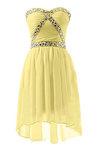 abito cocktail narciso vestito Sweetheart sera piegato a Giallo line design amore Sunvary da Homecoming pIwqtBHx
