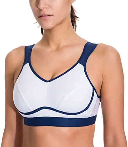 c44dd069074 SYROKAN Women s High Impact Support Bounce Control Plus Size Workout Sports  Bra