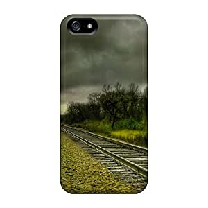 Protection Cases For Iphone 5/5s / Cases Covers For Iphone(parallel Train Tracks Hdr)