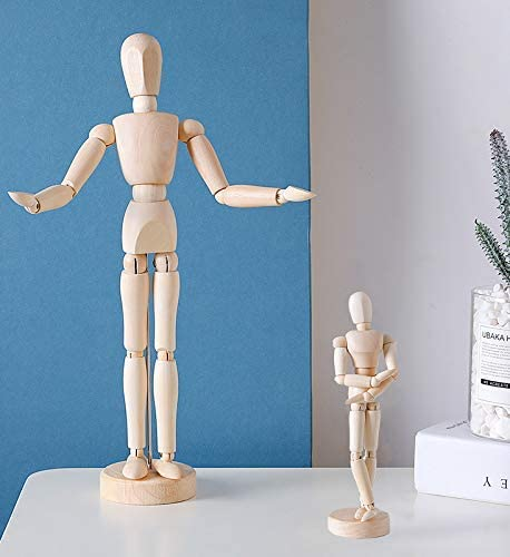 Drawing Figure Mannequin Wooden Model Wood Human Art Manikin Posable for Artist sketching posing doll 12 Inch Female