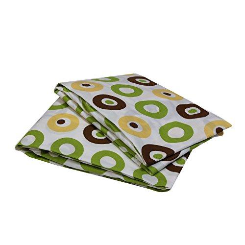 (Bacati Mod Crib Fitted Sheet, Green/Yellow/Chocolate Dots)
