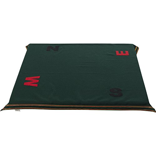 Bridge Poker Tablecloth to Cover Card and Gaming Table Square Green Baize Cloth Compass Point Symbol
