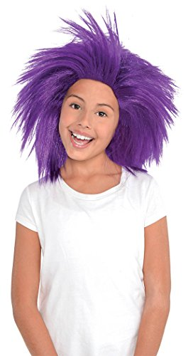 Sports Wig (Game Ready Team Spirit Party Crazy Wig Accessory, Purple, Synthetic Hair , One size)