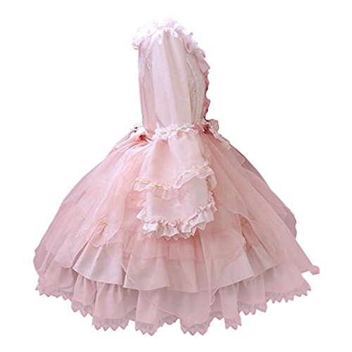 Rock Rosa Kleid Cosplay Kleid Partiss Damen Lolita Klassisches Prinzessin 1gqTwgXn8f