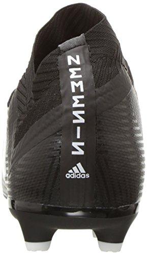 adidas Unisex Nemeziz 18.3 Firm Ground Soccer Shoe, Black/White, 5.5 M US Big Kid by adidas (Image #2)