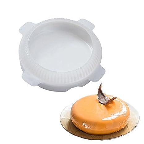 Molde de silicona con forma redonda para tartas, helado, molde para hornear, molde para repostería, decoración de repostería: Amazon.es: Hogar