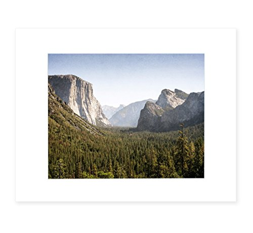 California Wall Art, Yosemite Landscape Decor, 8x10 Matted Photographic Print (fits 11x14 frame), 'Yosemite Valley' by Offley Green