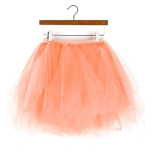 Owill Womens Short Skirt Adult Tutu Dancing Skirt (Orange, one - Shoe Casual Superstar 2 Lace