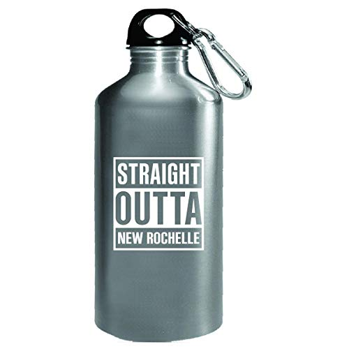 Straight Outta New Rochelle City Cool Gift - Water Bottle -