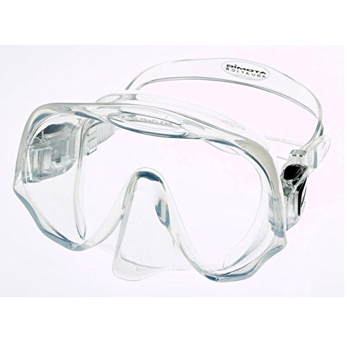 Atomic Aquatics Frameless Mask for Scuba Diving and Snorkeling, Clear, Standard - Austin Swim Gear