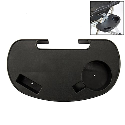 Hootech Universal Utility Tray Zero Gravity Chair Cup Holder Clip On Chair Table with Mobile Device Slot and Snack Tray