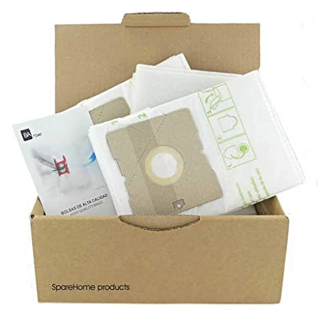SpareHome 10 Bolsas + 2 microfiltros recortables para ...