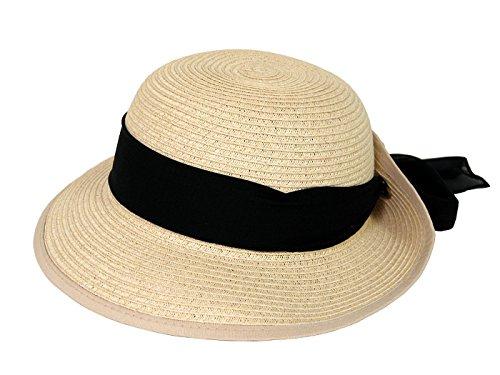 HBY Miami Small Brim Toyo Braid Hat-Beige-O/S