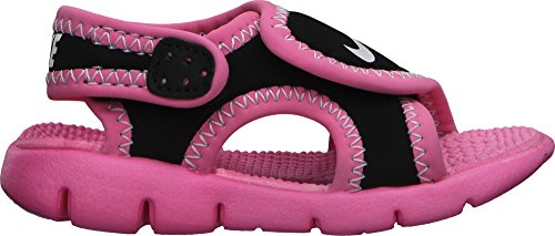 Nike Kids Sunray Adjust 4 (GS/PS) Sandal (8c, Black/Pink)