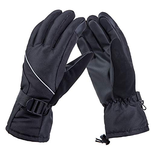 Ski Gloves for Men, Waterproof Winter Gloves for Motorcycle and Hiking By RCWDXG
