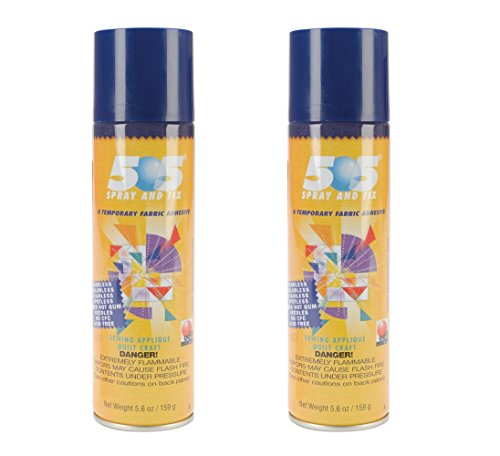Two Pieces Odif Usa 5.6 – Ounce 505 Spray and Fix Temporary Fabric Adhesive bundled by Maven Gifts ()