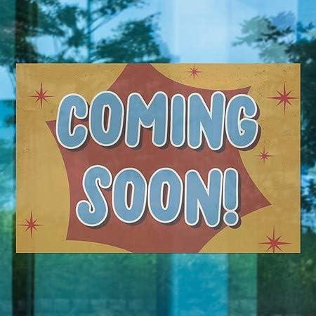 CGSignLab Coming Soon 5-Pack 27x18 Nostalgia Burst Window Cling