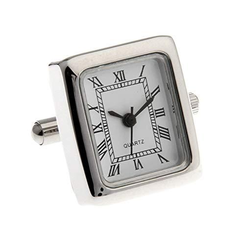 - Functional Clock Quartz Watch Working Cufflinks (Rectangle)