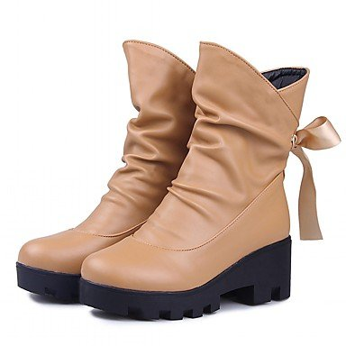 RTRY Women'S Boots Spring Fall Winter Platform Comfort Novelty Patent Leather Leatherette Wedding Office &Amp; Career Dress Casual Party &Amp; Evening US10.5 / EU42 / UK8.5 / CN43 JLGhZ5T