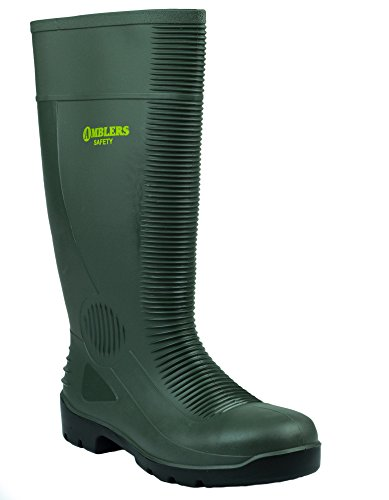 Amblers Safety FS99 Mens Steel S5 SRA Safety Wellington Boots Green 43