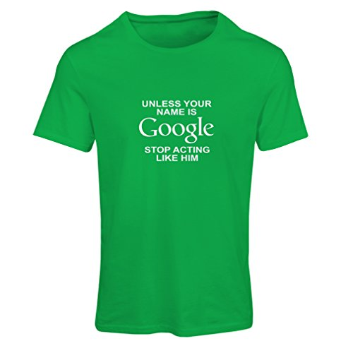 N4080F Camiseta mujer I don''t need Google, my wife knows everything gift' Verde Blanco
