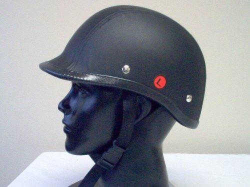 New Polo Leather Motorcycle Novelty Biker Helmet