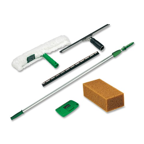 Price comparison product image Unger PWK00 Pro Window Cleaning Kit w/8ft Pole, Scrubber, Squeegee, Scraper, Sponge
