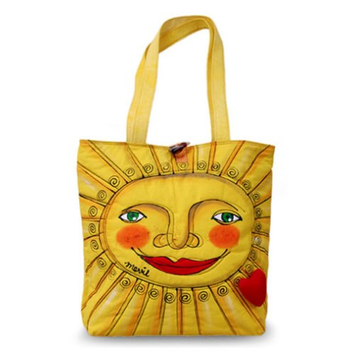 Bright Bags Sun Large Stylish Colorful Tote Bag