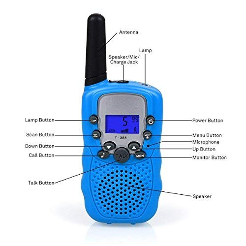 ISCOOL Walkie Talkies for Kids Long Range Two Way Radio Kids Walkie Talkies 22 Channel Outdoor Toys for Girls and Boys(2 PCS ,Blue