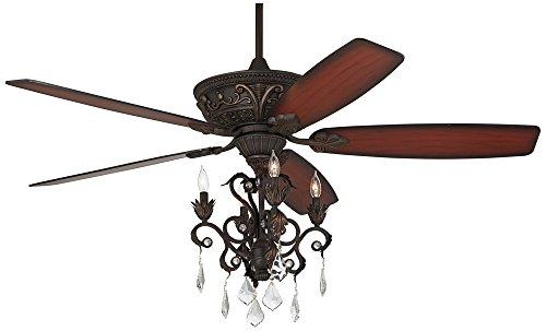 """60"""" Casa Montego Bronze Chandelier Ceiling Fan"""