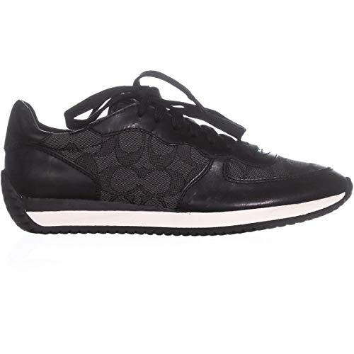 Womens Top Black Coal Fashion Coach Lace Farah Low Up Sneakers Smoke 4qPBw