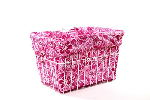Cruiser Candy Pink Hawaiian Bicycle Basket Liner ()