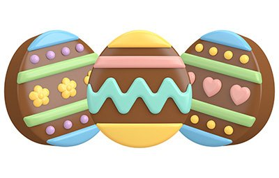 SpinningLeaf Easter Eggs Sandwich Cookie Mold