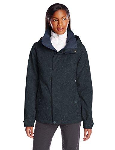 Burton Women's Jet Set Jacket, Mood Indigo Fleck, (Burton Womens Snowboard Jackets)