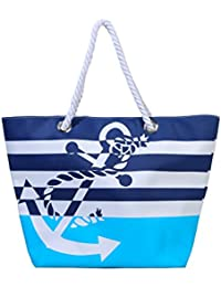 Waterproof Beach Bag Extra Large Summer Tote Bag With Cotton Rope Handles for Sands Swimming Pools Lakes