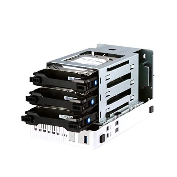 "QNAP TS-332X 3-Bay 64-bit NAS with Built-in 10G Network. Quad Core 1.7GHz, 2GB RAM, 1 X 10GbE (SFP+), 2 X 1GbE, 3 X 3.5/2.5"" Drive Slots, 3 X M.2 SATA 2280 Slots, RAID 0/1/5 2 AL324 64-bit quad-core 1.7GHz, 2GB DDR4 SODIMM RAM (1 x 2GB, max 16GB) 3 x 3.5""/ 2.5"" Drive slots, 3 x M.2 SATA 2280 slots, 1 x 10GbE SFP+ LAN, 2 x GbE LAN, hardware encryption Build a secure RAID 5 array with three disks for optimized storage capacity and protection against one Disk failing."