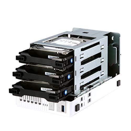 QNAP TS-332X 3-Bay 64-bit NAS with Built-in 10G Network. Quad Core 1.7GHz, 2GB RAM, 1 X 10GbE (SFP+), 2 X 1GbE, 3 X 3.5/2.5'' Drive Slots, 3 X M.2 SATA 2280 Slots, RAID 0/1/5 by QNAP (Image #1)