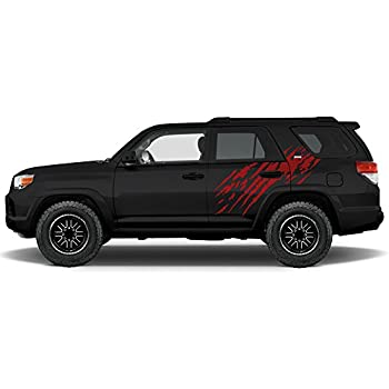 Toyota 4runner 2010 2017 splash rear panel graphics kit 3m vinyl decal wrap dark red