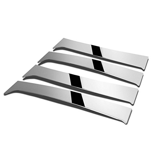 Chevy Silverado/GMC Sierra Crew 4pcs Exterior Door Pillar Post Trim Cover (Chrome) (Chevy Pillar Side)