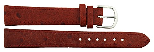 Citime Red Polyurethane Band Replacement Pin Clasp, 14mm Strap _ B14RedItr68S
