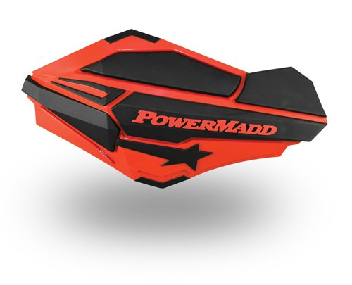 PowerMadd 34407 Honda Red/Black Sentinel Handguard